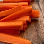 peeled, sliced carrot sticks