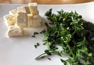 Feta and parsley