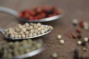 White pepper on a spoon
