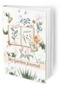 My Garden Journal mockup in peach