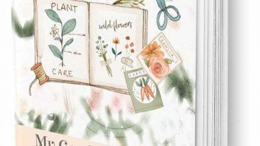 My Garden Journal mockup in peach