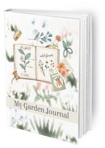 My Garden Journal mock up in sage
