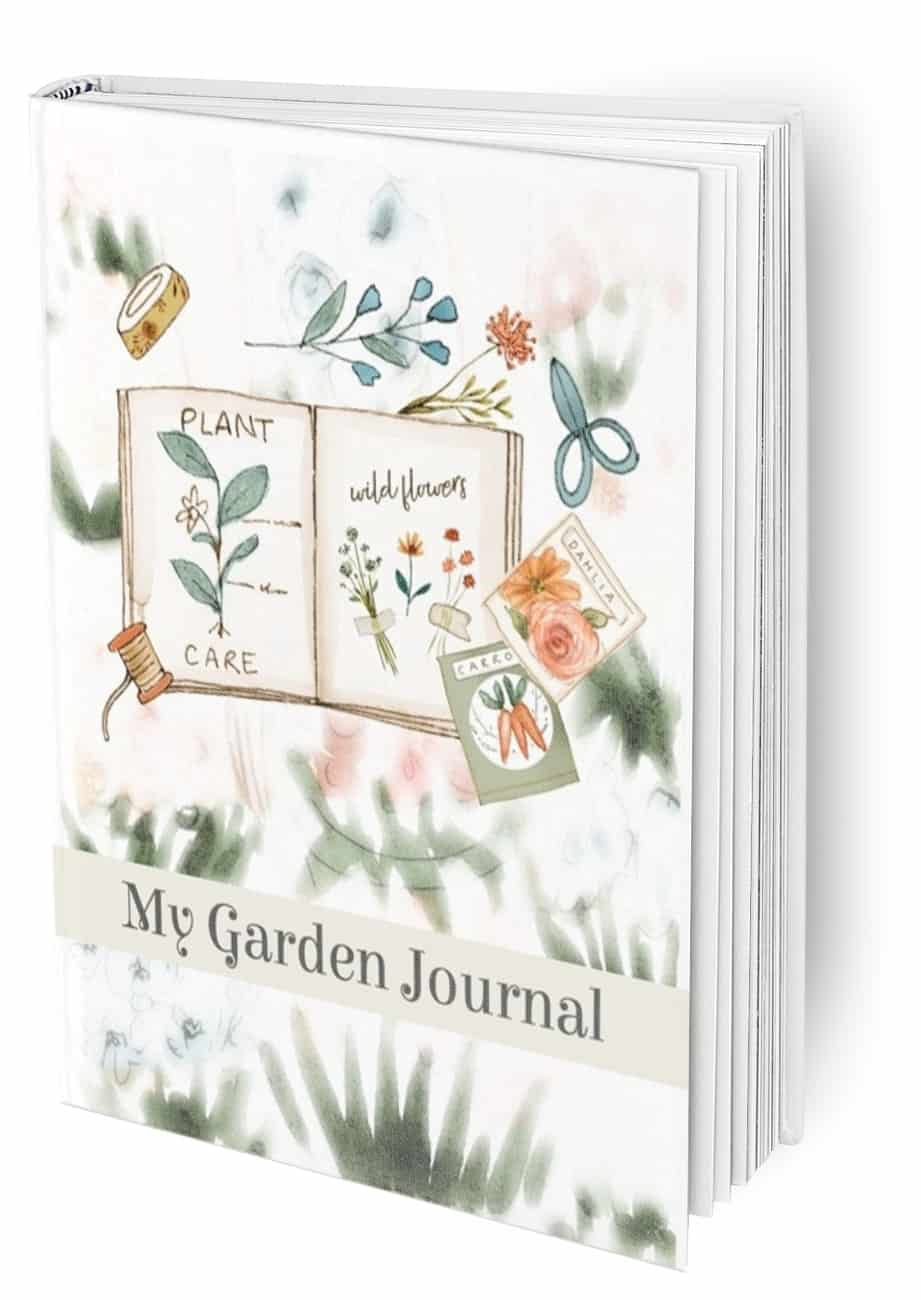 My Garden Journal mock up in sage