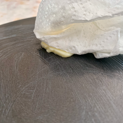 Butter on the base