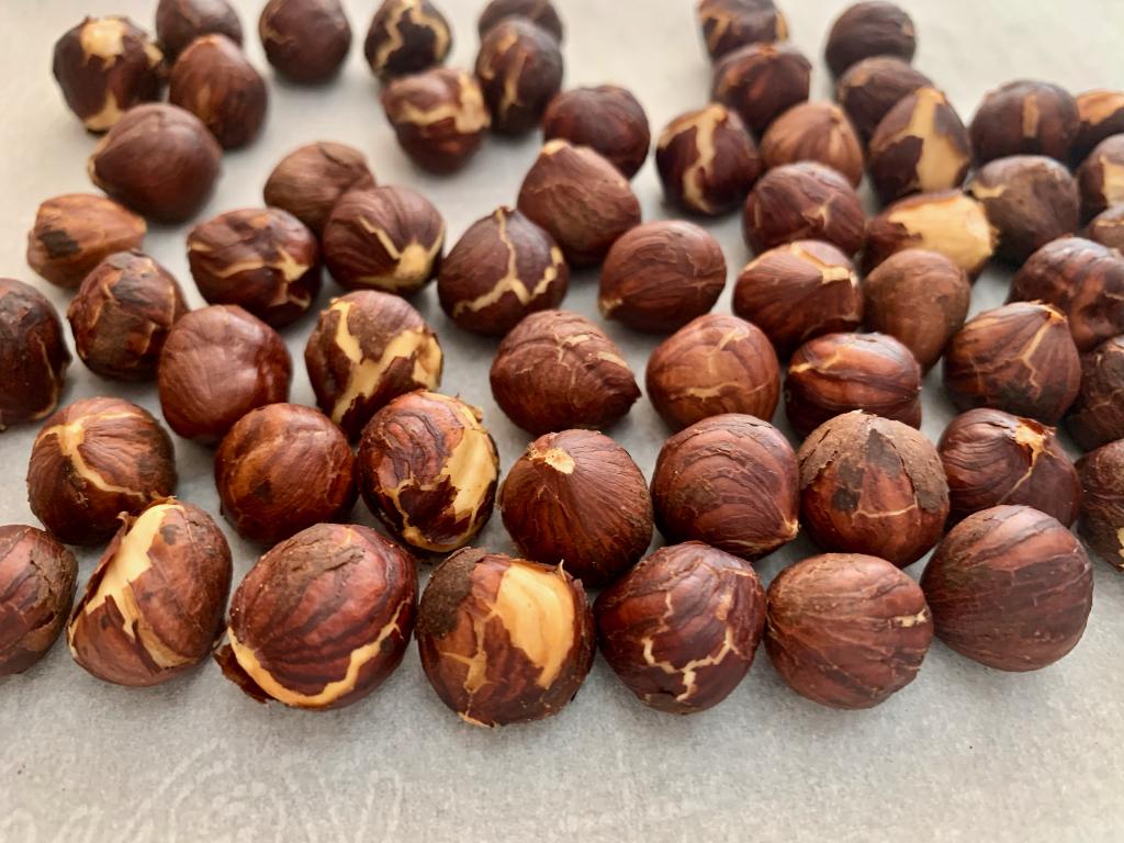 Lightly dry roasted hazelnuts