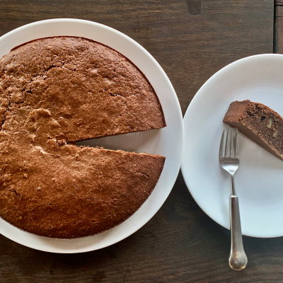 Chocolate and Walnut Cardamom Torte