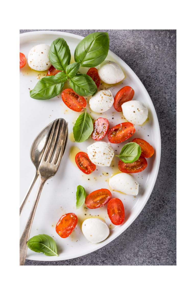 Caprese salad serving suggestion