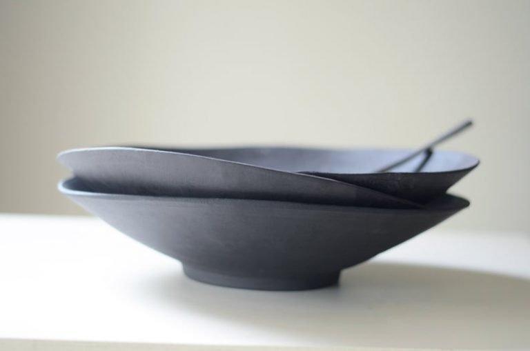 """Large 14"""" wide, shallow salad bowls make presentation elegant"""