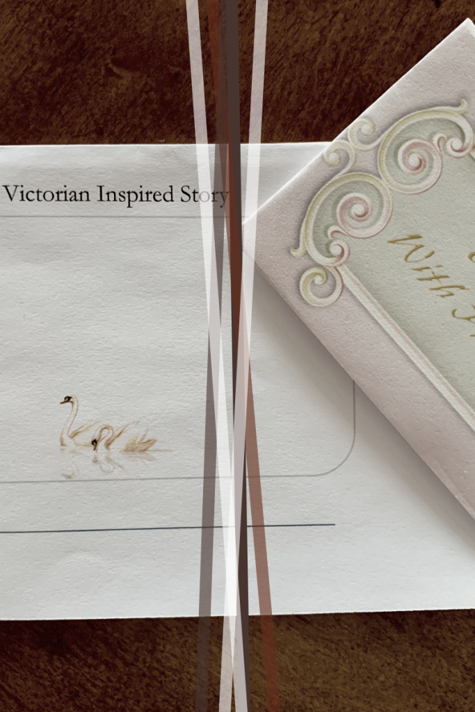 Book with ribbon and invitation on wood