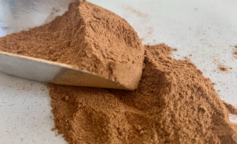 Spice in pile with trowel