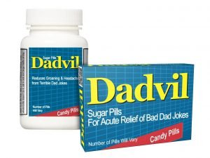 Prank Advil containers for Dad so he can handle bad jokes
