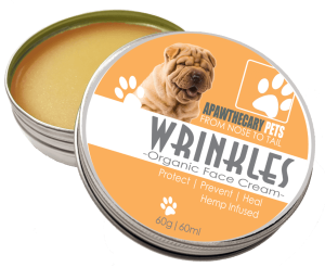 Facial wrinkle cream for dogs to prevent infections