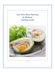 Cover of the guide for meal planning with workouts while in a keto diet