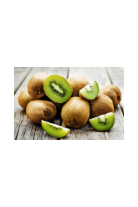 Kiwifruit on a board, some cut, some left whole