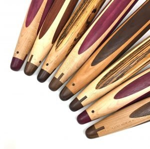 Custom made wood rolling pins