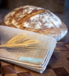 Natural linen helps absorb moisture while your bread proofs on the final rise.