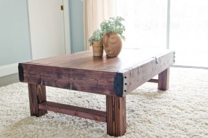 Rustic one of a kind coffee table is perfect for your homemade one of a kind doughnuts.
