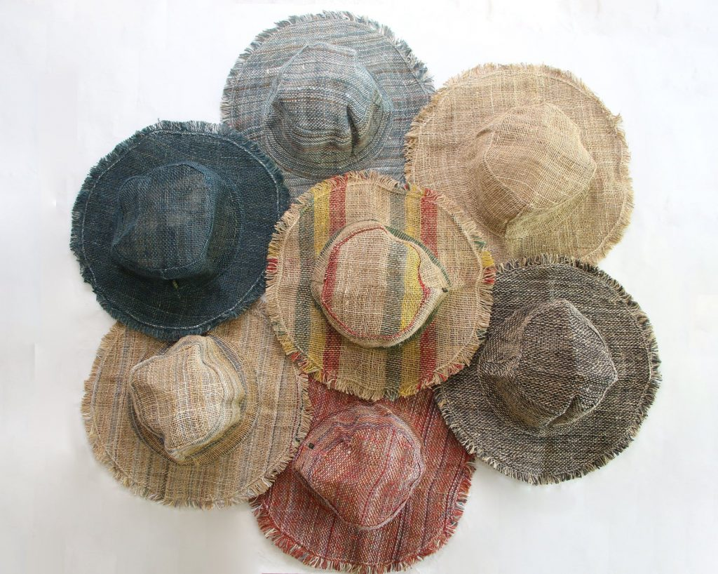 Hats made with 100% hemp with a cotton trim
