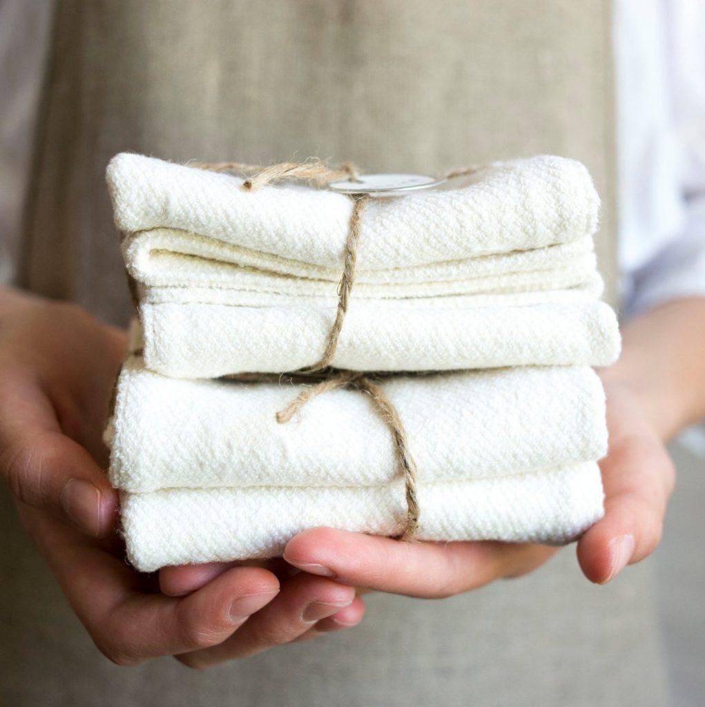 Hemp and organic cotton wash cloths