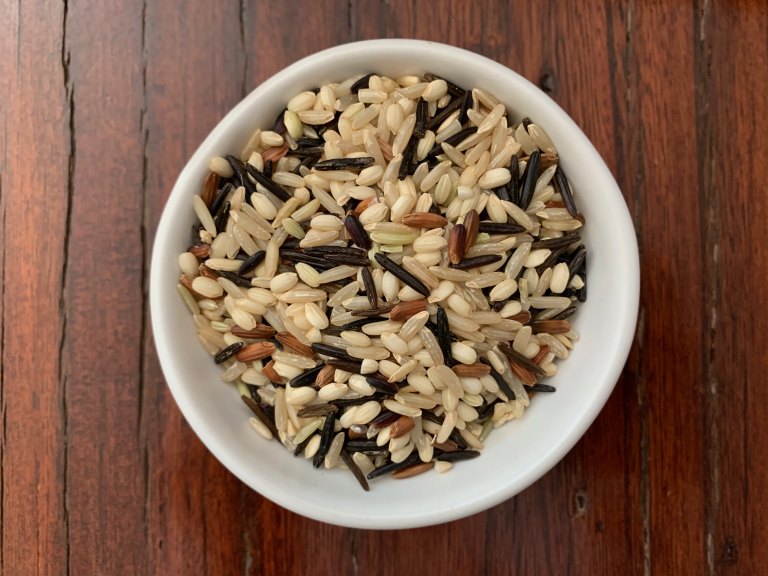 Wild rice blend in a bowl