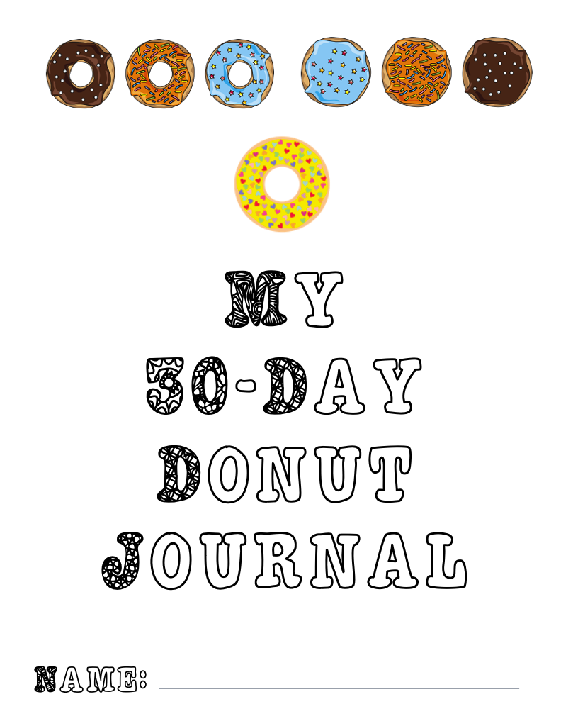 Cover page for My 30-day Donut Journal