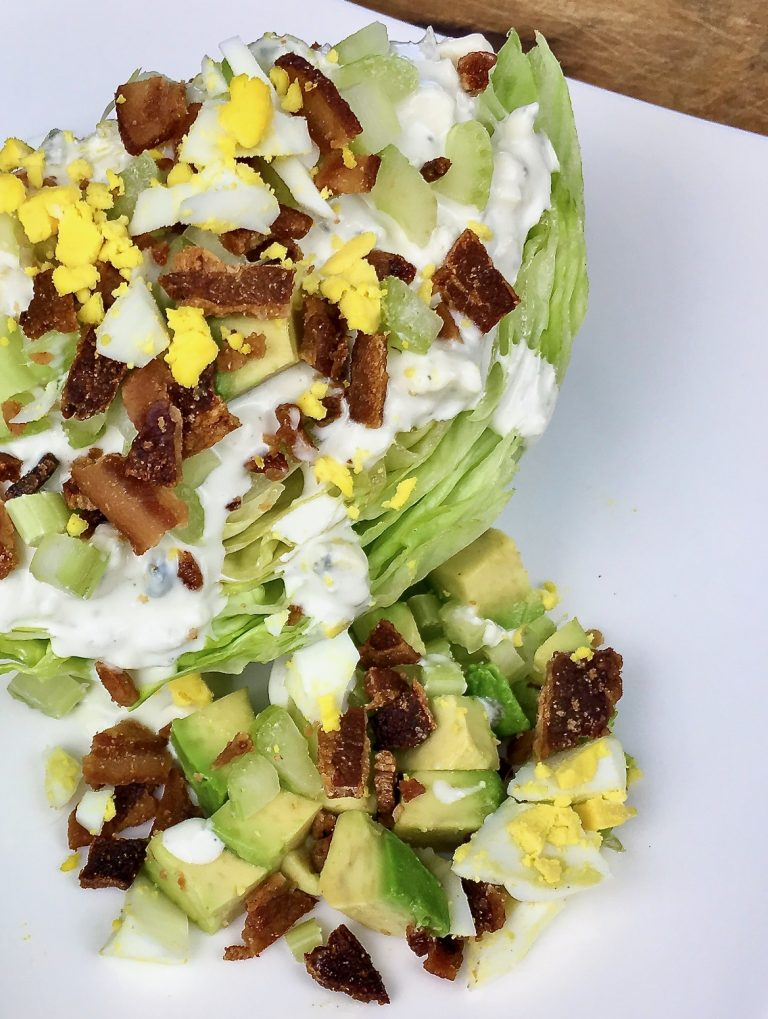 Serve wedge salad with a trailing of garnish!