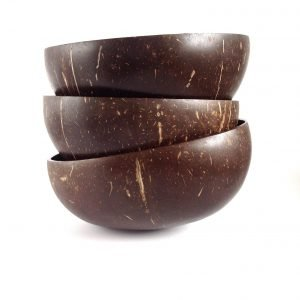 Coconut bowls make great organic re-useable soup bowls