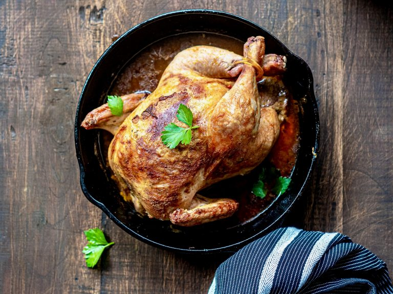 No one likes cleaning up after a roast chicken dinner so use an air fryer and there's less cleanup