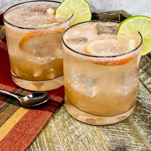 Sparkling Paloma cocktail ready to be served - cheers to one of Mexico's national drink