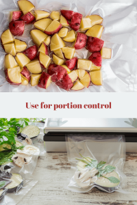 Use a vacuum sealer to work out your portions per meal
