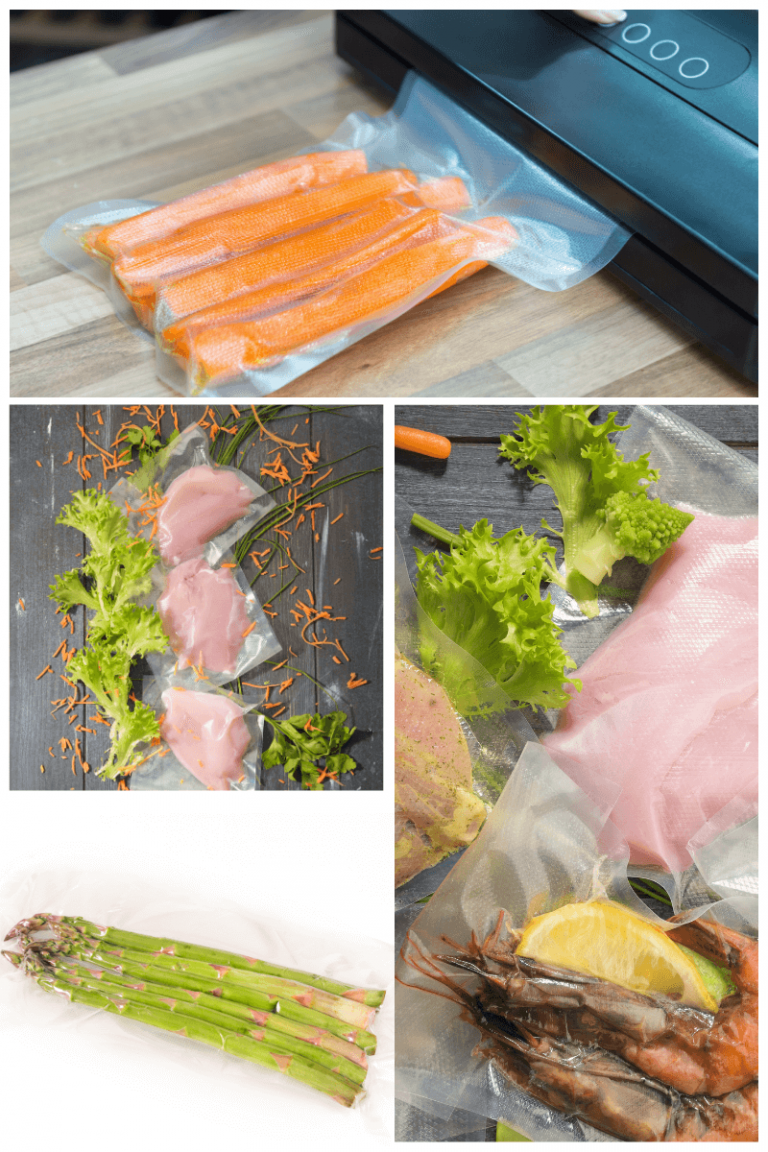 Vacuum sealer for food and food already packed