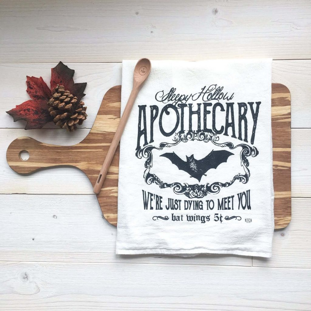 Tea towels advertising bat wings for sale