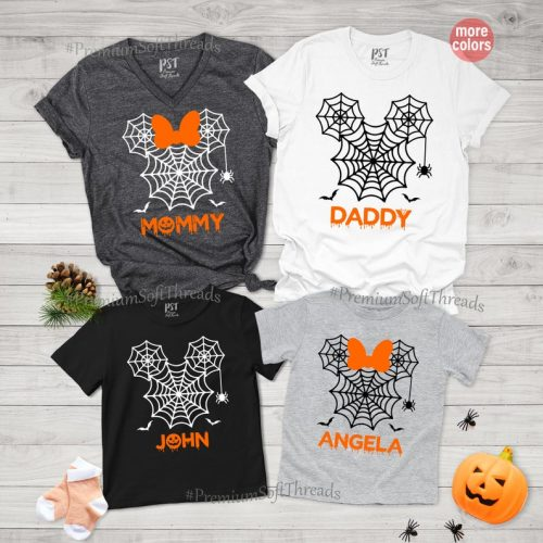 Matching and personalized family tee-shirts for Halloween