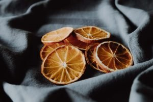 Dehydrate orange slices and vacuum seal them for later as gifts