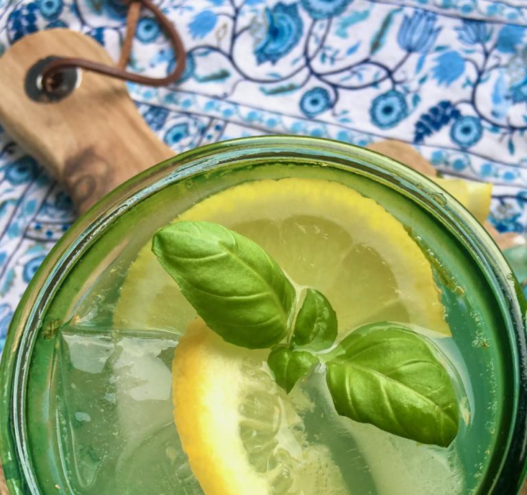 Serve Lemon Spritzer mocktails with extra lemon slices