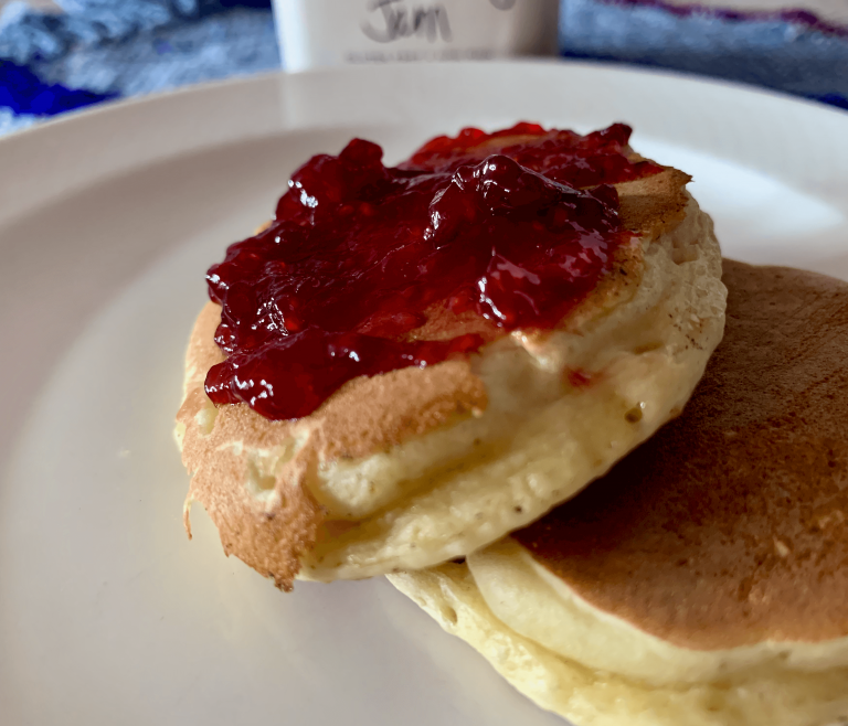 Pancakes are easy and quick to make with this pre-mix recipe
