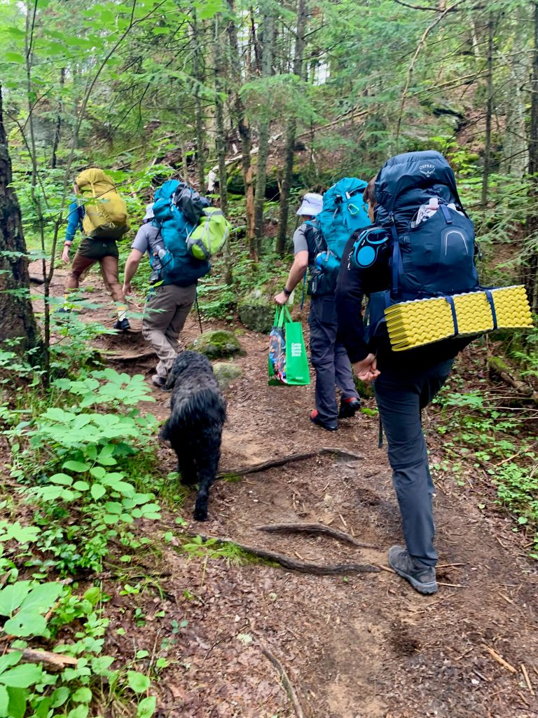 Hiking in for a 3 day camping trip